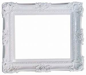 Decorative Baroque-Style White Frame - Traditional ...