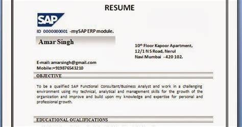 sample resume for sap fico consultant costumepartyrun