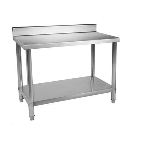 Table inox avec rebord 150×60 cm World Chr