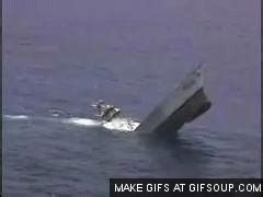 Sinking Boat Test by Bay Gif Find On Giphy