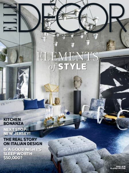 Elle Decor Usa  042018 » Download Pdf Magazines