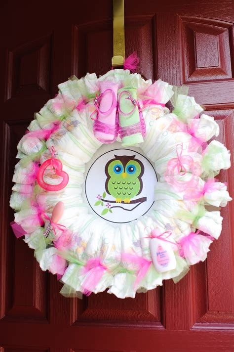 the mandatory mooch baby shower wreath