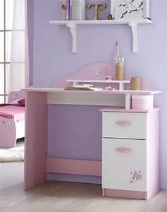 Bureau Fille Rose : bureau papillon rose blanc ~ Teatrodelosmanantiales.com Idées de Décoration