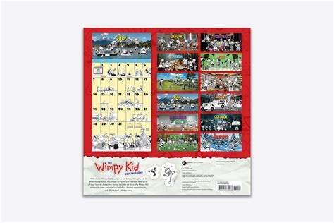 wimpy kid wall calendar wall abrams