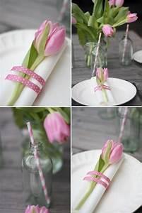 Servietten Falten Ostern Tischdeko : tischdeko mit tulpen servietten falten rosa tulpe dekoration decoration ideas deko ideen ~ Eleganceandgraceweddings.com Haus und Dekorationen