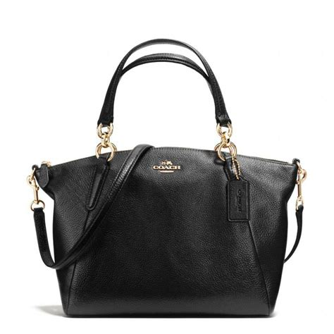 coach  small kelsey satchel  pebble leather