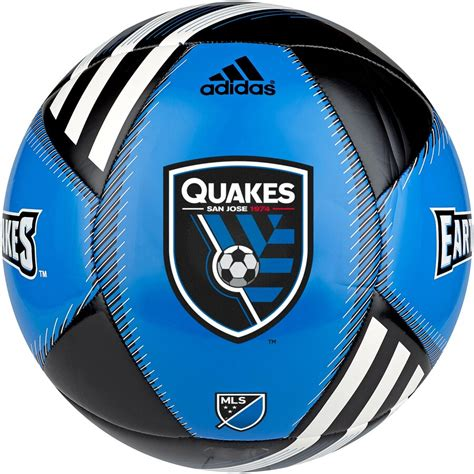 San Jose Earthquakes adidas MLS Team Soccer Ball