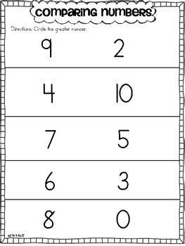 comparing numbers numbers    tara west teachers