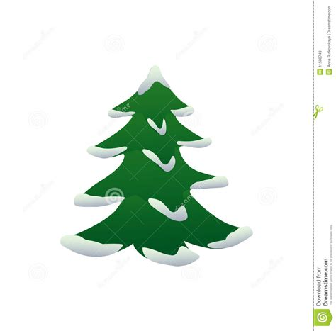 christmas tree with snow stock vector image of decoration 11580749