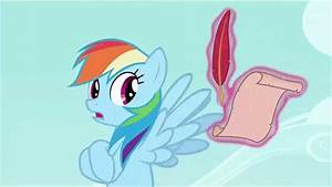 Rainbow Dash breaks the fourth wall [ ;-) ] - YouTube