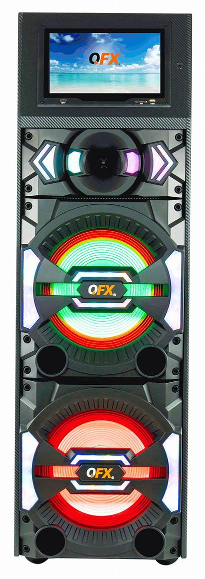 Speaker Screen Qfx Wifi Touch Bluetooth Led