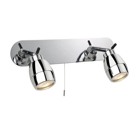 firstlight marine chrome 2 way bathroom wall spotlight