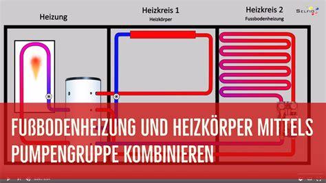 fußbodenheizung und heizkörper kombinieren fu 223 bodenheizung und heizk 246 rper mittels pumpengruppe kombinieren