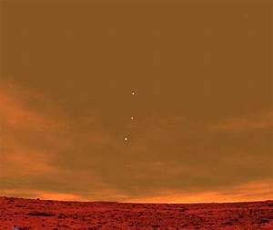 An unreal Mars skyline