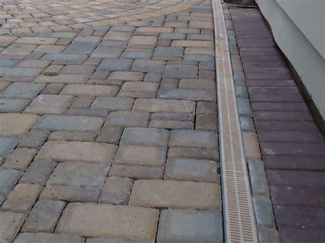 paver patio drainage paver drain travertine supply