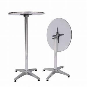 Table De Bar Ronde : alu table de bar ronde magasin en ligne gonser ~ Teatrodelosmanantiales.com Idées de Décoration