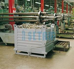 Caisse Palette Métallique : caisse palette fond ouvrant benne industrielle 500 litres ~ Edinachiropracticcenter.com Idées de Décoration