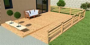 terrasse en bois pas chere petite maison bois With solution terrasse pas cher