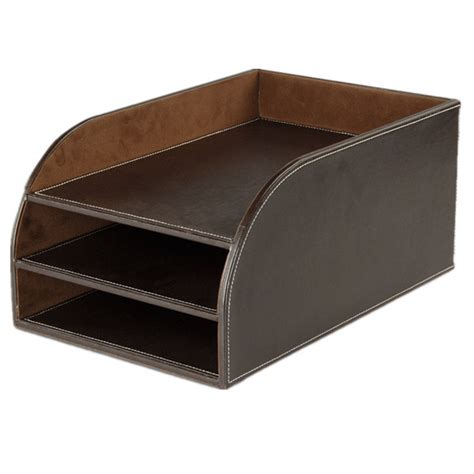 faux leather desk organizer pu faux leather office desk organizer document tray view