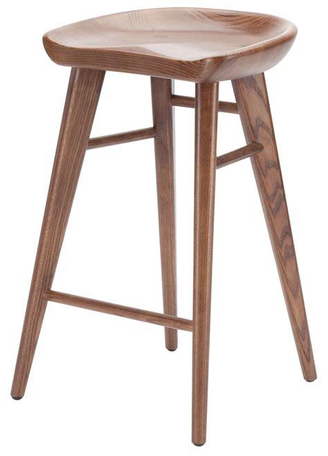 walnut counter stools nuevo kami counter stool modern selections 3337