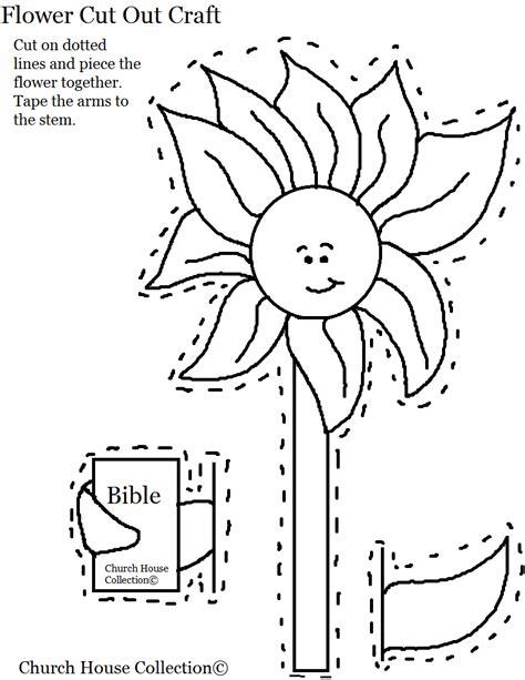 flower holding bible cutout craft for church 419   Flower With Bible Cutout Activity Craft For Kids in Sunday School 1