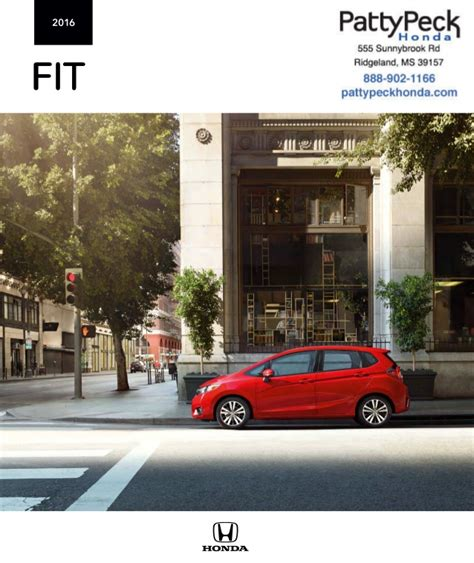 2016 Honda Fit Brochure  Honda Dealer Near Jackson