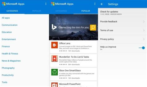 news apps for android microsoft releases microsoft apps to help users discover