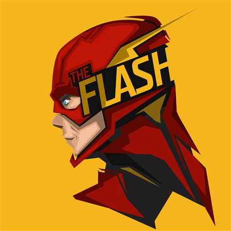 wallpaper  flash minimal artwork headshot