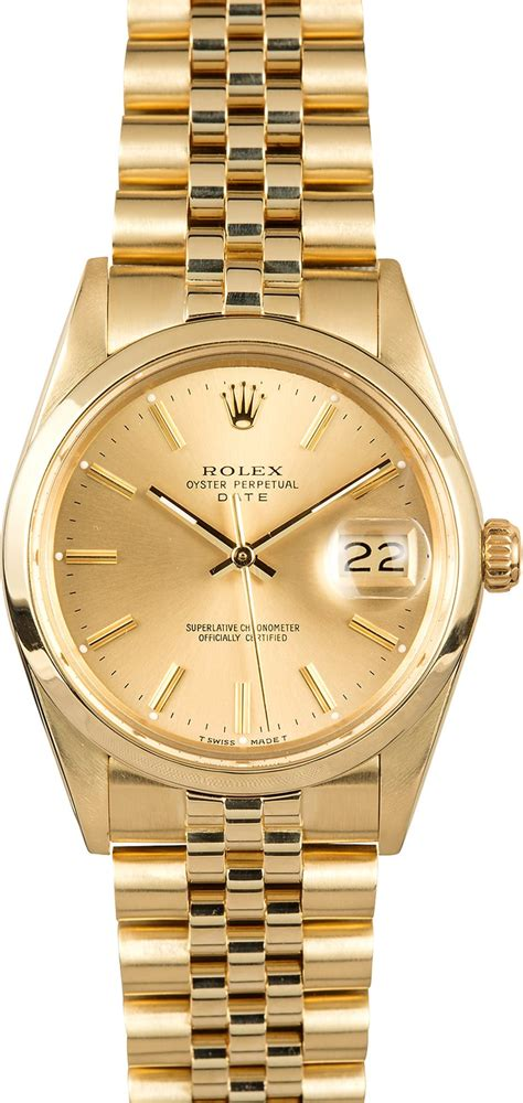 Rolex Date Yellow Gold 15007 – NYC Watch Buyers – Sell ...
