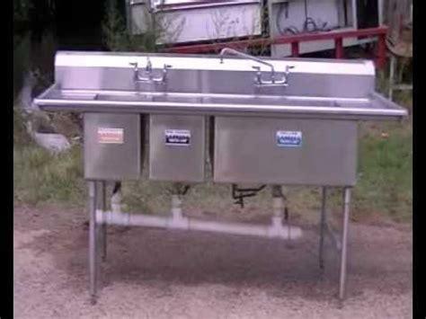 compartment sink stainless steel sink restaurant