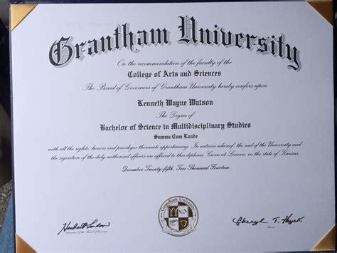 Official graduate of Grantham University! I finally ...