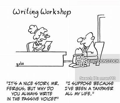 Passive Voice Cartoon Cartoons Funny Comics Writing