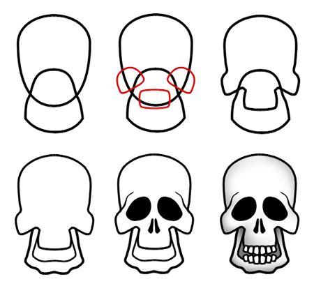 draw cartoon skulls