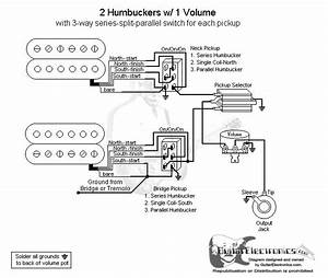 2 Humbuckers  3 1 Volume  Series