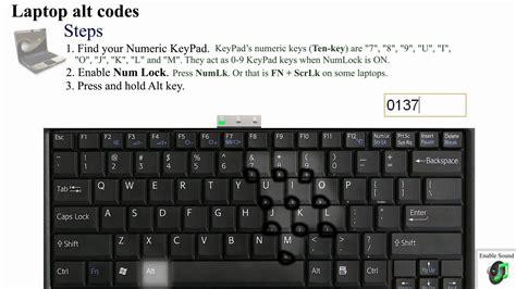 Alt Codes ƒöΓ Symbols öñ Laptop Keyboards ♥