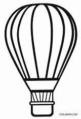 Balloon Air Coloring Printable Template Balloons Preschool Craft Sheets Cool2bkids Adults Crafts sketch template