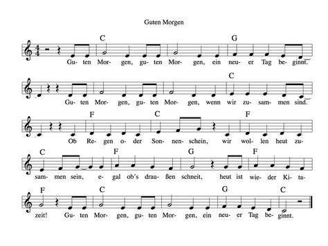 ein morgenkreis lied mit  klatschern ein paar gesten