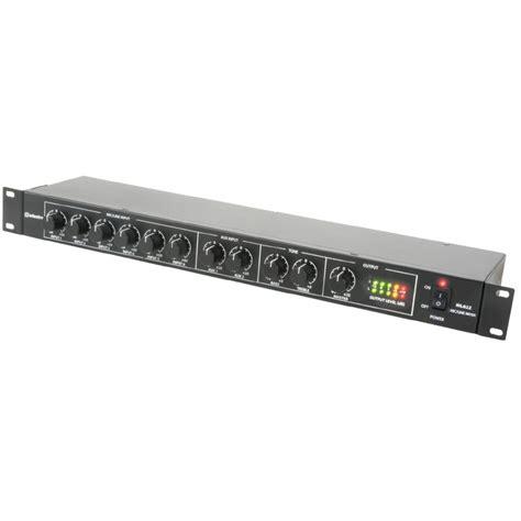 rack mount audio mixer rack mount 1u audio mixer with 6 mic line i p and 2