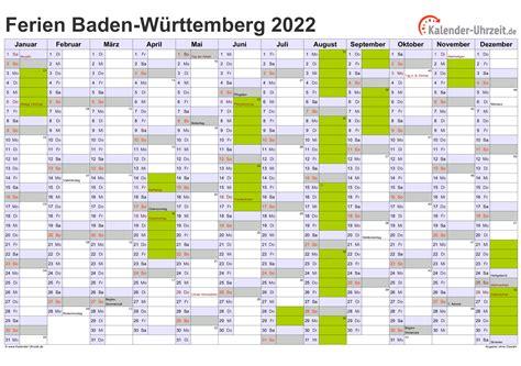 Dabei sollen die flächen von unternehmen. Ferienbaden Württemberg 2021 - Kalender 2020 Baden ...