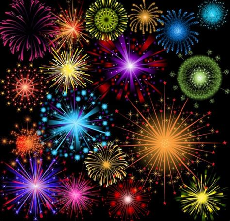 clipart fuochi d artificio fuochi d artificio vettore brillantemente colorate