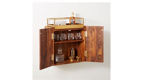 Wall Mounted Bar Cabinets For Home wall mounted bar cabinet cb2