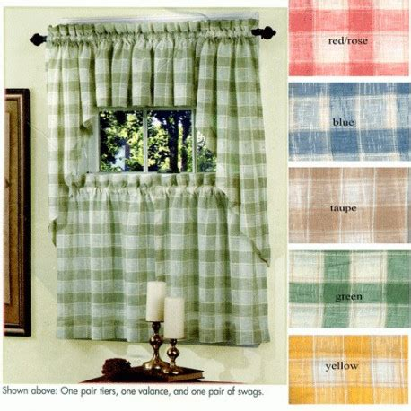 country plaid window curtain curtain draperycom