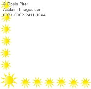 sun border clipart stock photography acclaim images