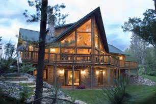 Inspiring Log Home Designs Photo by Log Cabin By Golden Eagle Log Homes Custom Designed