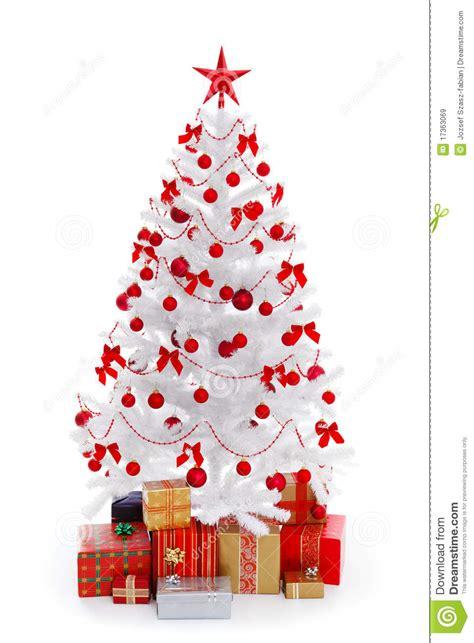 193 rbol de navidad blanco con los regalos y la decoraci 243 n