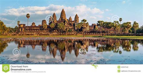 panorama view  angkor wat temple siem reap cambodia stock photo image