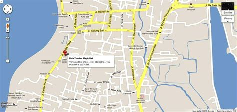 location map  kuta theater bali  tourists guidance
