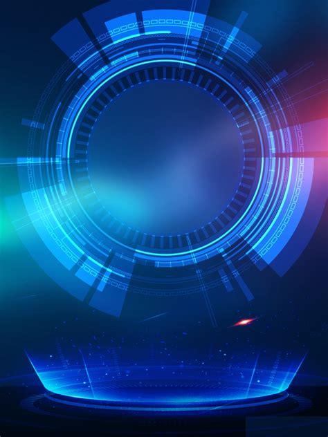 modern business technology blue background design