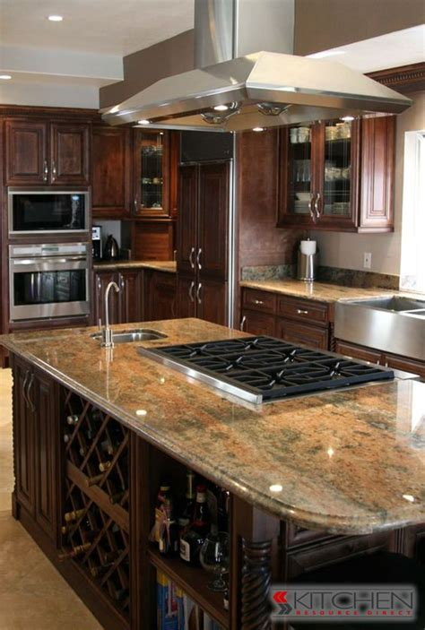 kitchen island with bar top functional island with wine rack bar sink and