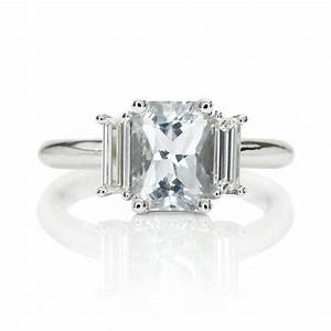 a gorgeous radiant white sapphire engagement ring the With white sapphire wedding rings